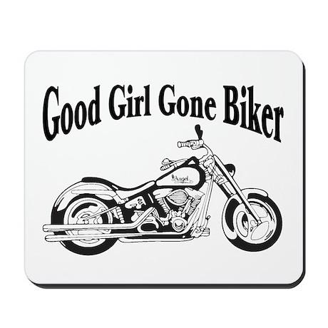 Good Girl Biker II Mousepad