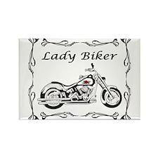 Lady Biker II Rectangle Magnet
