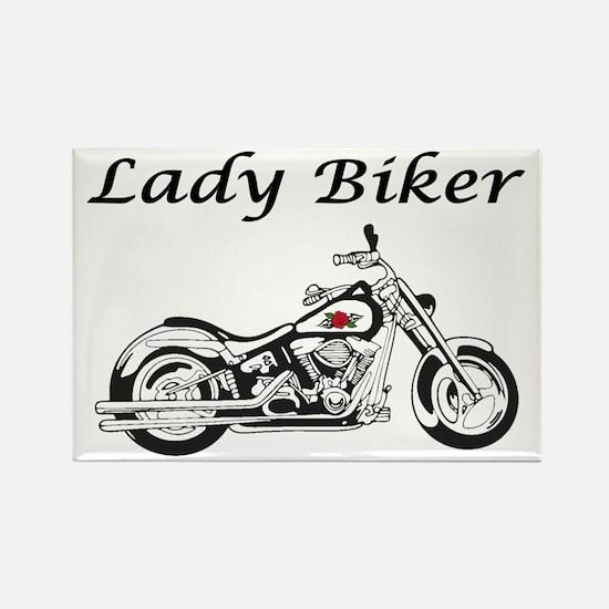 Lady Biker I Rectangle Magnet