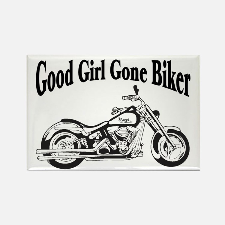 Good Girl Biker II Rectangle Magnet