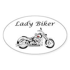 Lady Biker I Decal