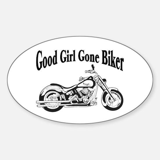 Good Girl Biker II Sticker (Oval)