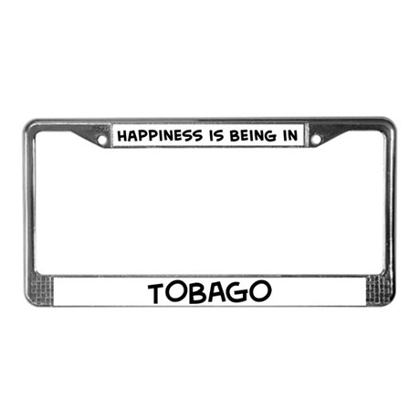 Happiness is Tobago License Plate Frame