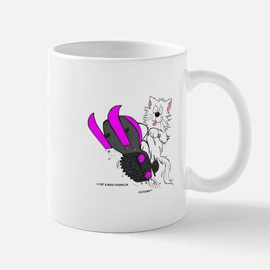 Snowmobile Cat Pink Mug