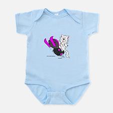 Snowmobile Cat Pink Infant Bodysuit