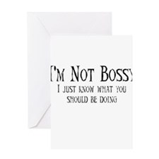 Not Bossy Greeting Card