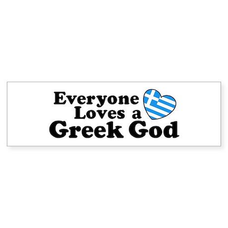 Everyone Loves a Greek God Sticker (Bumper)