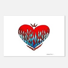 Fire & Ice Heart Postcards (Package of 8)