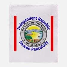 Cute Alaska state seal Throw Blanket