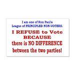 No VOTE #2 22x14 Wall Peel