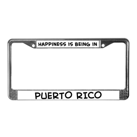 Happiness is Puerto Rico License Plate Frame
