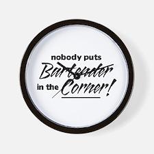 Bartender Nobody Corner Wall Clock