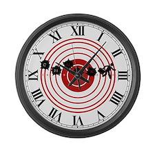 Moving Target Large Wall Clock