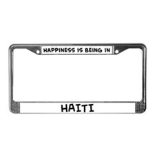 Happiness is Haiti License Plate Frame
