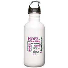 Hope with Feathers Water Bottle