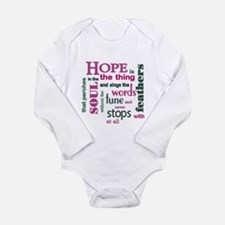Hope with Feathers Long Sleeve Infant Bodysuit