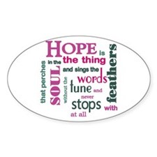 Hope with Feathers Decal