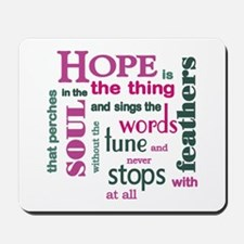 Hope with Feathers Mousepad