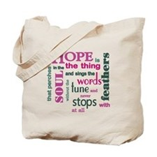 Hope with Feathers Tote Bag