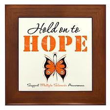 Multiple Sclerosis Hope Framed Tile