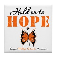 Multiple Sclerosis Hope Tile Coaster