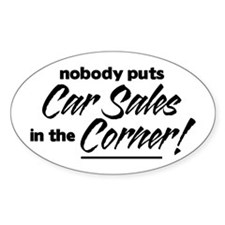 Car Sales Nobody Corner Decal