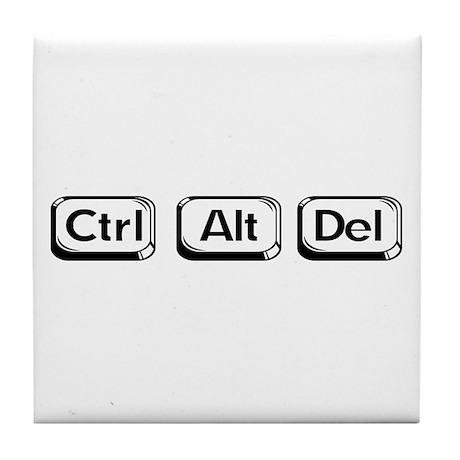 """Ctrl Alt Del"" Tile Coaster"