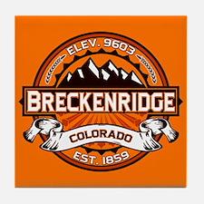 Breckenridge Tangerine Tile Coaster