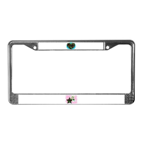 PAINTED HEART DESIGN License Plate Frame