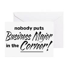 Business Major Nobody Corner Greeting Cards (Pk of