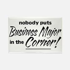 Business Major Nobody Corner Rectangle Magnet