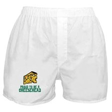 Proud Cheesehead Boxer Shorts