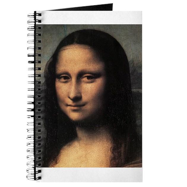 Mona lisa detail journal by immortalartwork for Mona lisa shower curtain