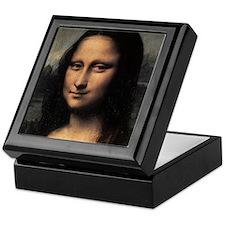 Mona Lisa (detail) Keepsake Box