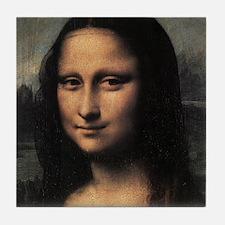 Mona Lisa (detail) Tile Coaster