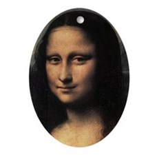 Mona Lisa (detail) Ornament (Oval)