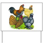 Purebred Bantam Quartet Yard Sign