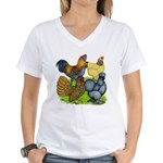 Purebred Bantam Quartet Women's V-Neck T-Shirt