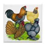 Purebred Bantam Quartet Tile Coaster