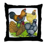 Purebred Bantam Quartet Throw Pillow