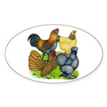 Purebred Bantam Quartet Sticker (Oval)