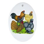 Purebred Bantam Quartet Ornament (Oval)