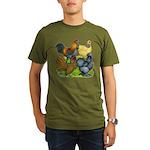 Purebred Bantam Quartet Organic Men's T-Shirt (dar