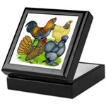 Purebred Bantam Quartet Keepsake Box