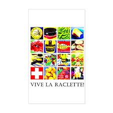 Vive la Raclette! Rectangle Decal