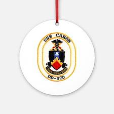 USS CARON Ornament (Round)