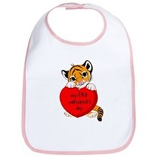 My First Valentines Day Tiger Bib