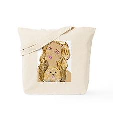Dog Woman Tote Bag