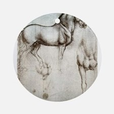 Study of Horses Ornament (Round)