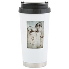 Study of Horses Travel Coffee Mug